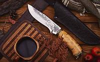 Нож охотничий Кабан -3 ручной работы, с кожаным чехлом в комплекте, солидный подарок мужчине