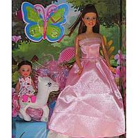 Кукла Defa с дочерью, лошадка, аксессуары, в коробке 32,5х24х6см, 3 вида 8077