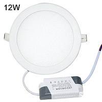 Точечный светодиодный светильник DownLight 12W круглый Белый/Теплый белый