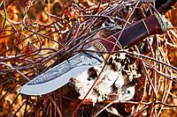 Нож охотничий Кабан -1 ручной работы, с кожаным чехлом в комплекте, отличный подарок мужчине