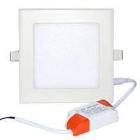 Точечный светодиодный светильник DownLight 12W квадратный Белый