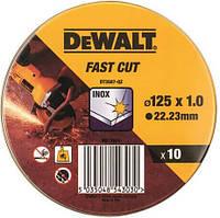 Набор кругов отрезных DeWALT INOX 125x22,23 x1,0 мм по металлу (DT3507)