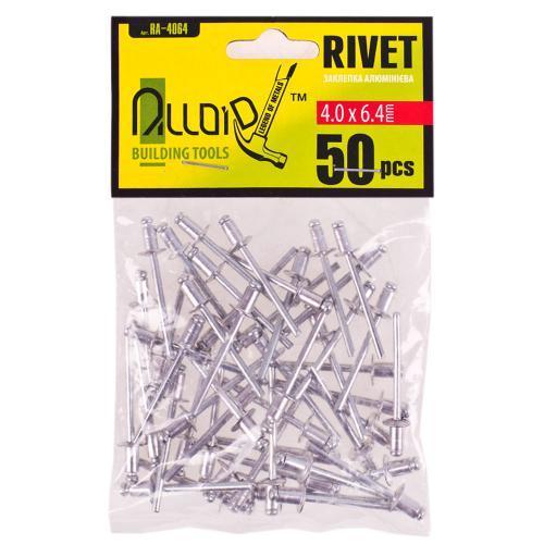Alloid. Заклепка алюминиевая 4,0 х 6,4мм, 50шт (RA-4064)