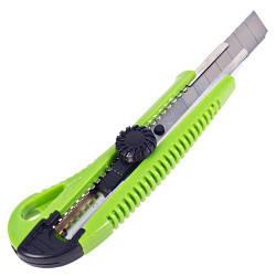 Alloid. Нож пластиковый с винтовым фиксатором с выдвижным сегмент. лезвием 18мм (НП-1863)