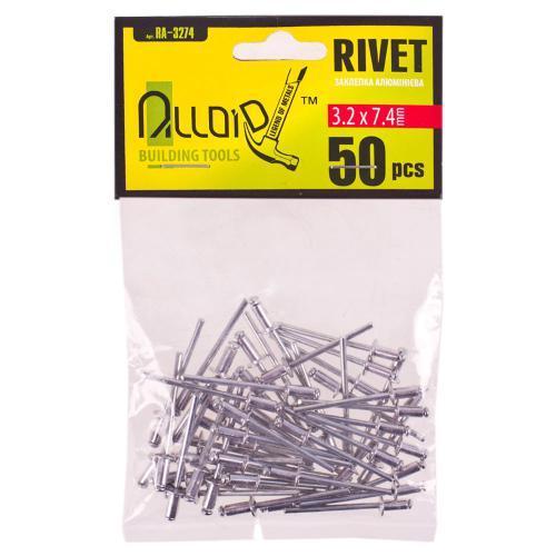 Alloid. Заклепка алюминиевая 3,2 х 7,4мм, 50шт (RA-3274)
