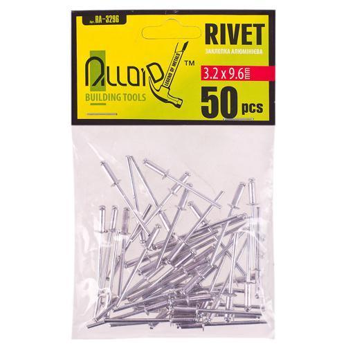 Alloid. Заклепка алюминиевая 3,2 х 9,6мм, 50шт (RA-3296)