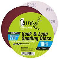 Alloid. Круг шлифовальный на липучке 125 мм, зерно 220 (10шт) (SD-25220)