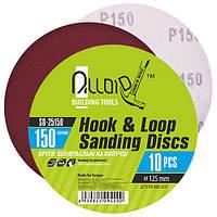 Alloid. Круг шлифовальный на липучке 125 мм, зерно 150 (10шт) (SD-25150)