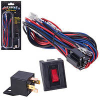 Провода питания  для доп. фар/ WK-005/2x55W/реле+кнопка (WK-005)