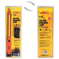 "Переносная лампа ""VOIN"" VL-193 12V/220V/3W-COB+2 LED-НР/АКБ/USB+microUSB/магнит (VL-193)"