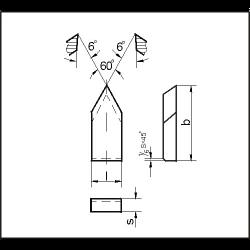 Пластина т/с 11230 Т15К6 (22432)