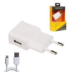 Зарядное устройство Grand-X CH765LTW USB 5V 1A White с защитой от перегрузки + cable USB-Lightning (CH-765LTW)