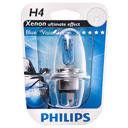 H4 12V 60/55W P43t-38 BlueVision Ultra (Xenon Effect), Blister 1 pc. 12342BVUB1