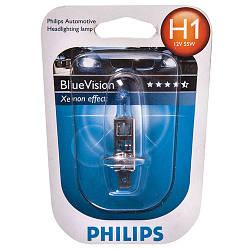 H1 12V 55W P14,5s BlueVision (Xenon Effect), Blister 1 pc. 12258BVB1