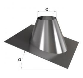 Крыза для дымохода оцинкованная угол 30-45° 190