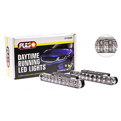 Фары дополнительные дневного света LP-35600 DRL 30LED, 4W, 12V, пластик, 190х26мм, с поворотами (LP-35600)