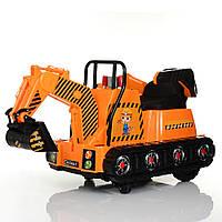 Трактор M 4145L-7  2мотора25W, 2аккум6V4,5AH, муз, свет,кож.сиденье, оранж