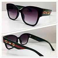 Женские черные солнцезащитные очки Guссi (GG0059)