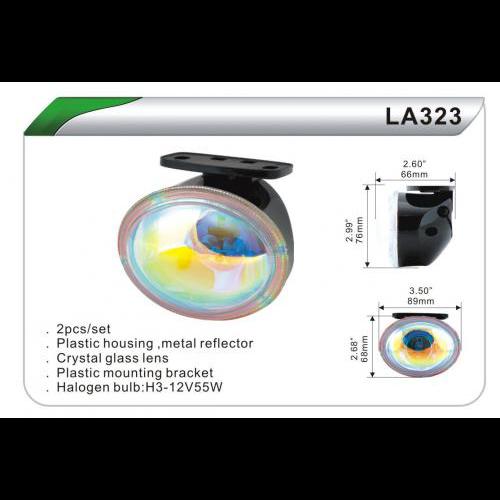 Фары дополнительные  DLAA  323 BL/H3-12V-55W/89*68mm (LA 323 BL)
