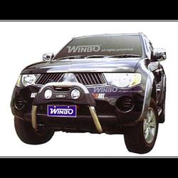 Mitsubishi L200 2006-2015 защита пер.бампера метал.