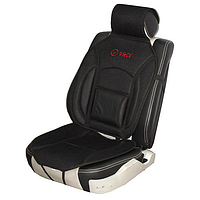 Накидка на сид.MF 1007/CN 12527 BK 07 дерм.+сетка черн.