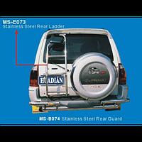 Mitsubishi Pajero 1999-2006 защита задн.бампера метал.