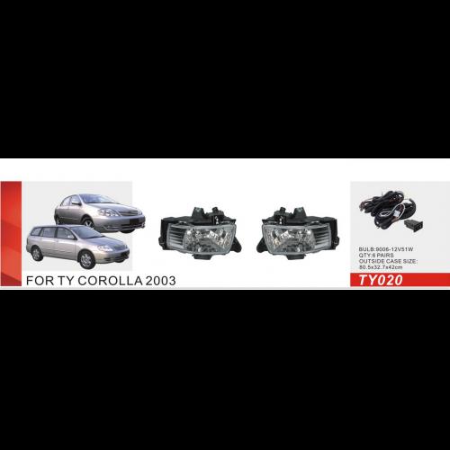Фары дополнительные модель Toyota Corolla 2003/TY-020/эл.проводка