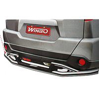 Nissan X-Trail (2007-ON) защита заднего бампера метал. (D 117171)
