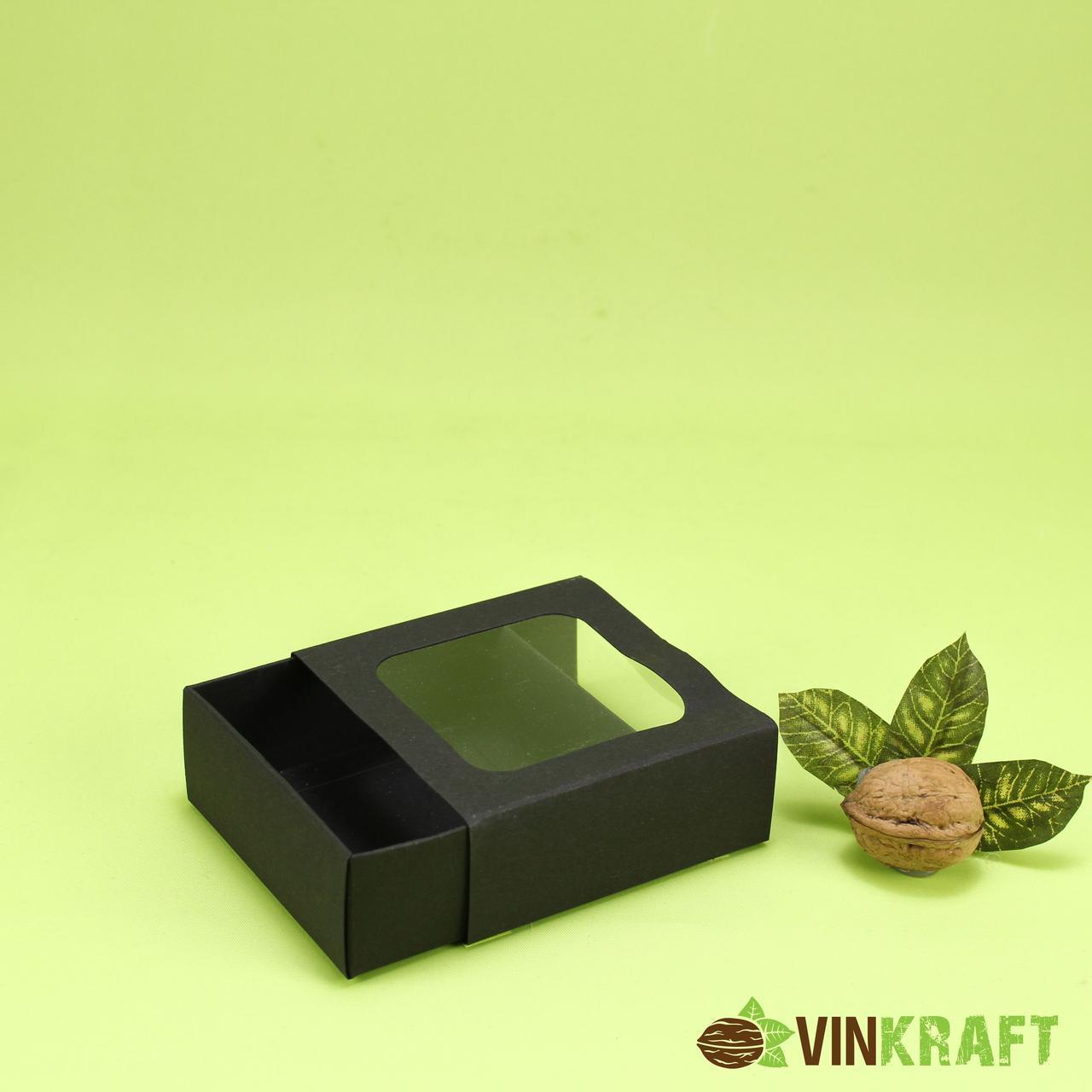 Подарункова коробка 90*90*35 (дизайнерський картон), чорна
