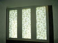 Уни-створка, закрытая система (кассетная) рулонных штор с П-образными направляющими. Ткань Rich. Каталог №1