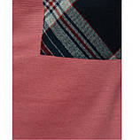 Платье женское большого размера прямого кроя цвет-карамель, фото 4