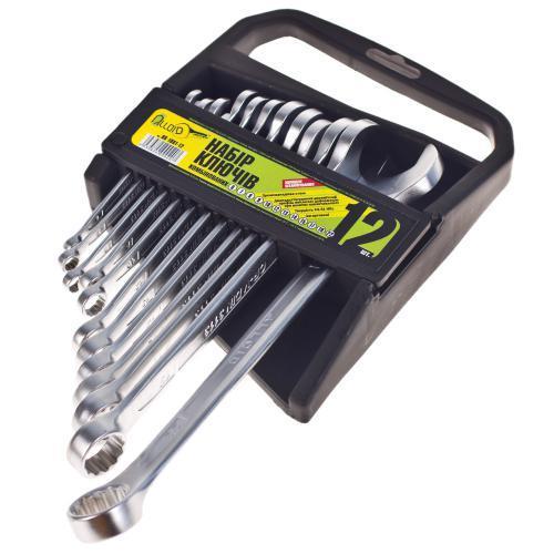 Набор ключей комбинированных Alloid, 12 предметов, 6-22мм (НК-1061-12)
