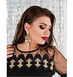 Платье женское из легкой ткани черное, фото 2