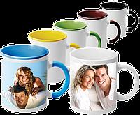 Печать на чашках с цветными вставками