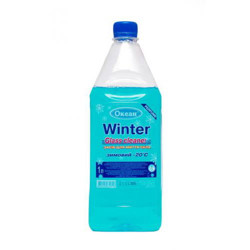 Омыватель стекол Winter Glass Cleaner, -20°С бутылка пэт. 1л (Океан)