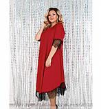 Платье женское А-силуэта, без карманов красное, фото 2