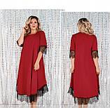 Платье женское А-силуэта, без карманов красное, фото 3