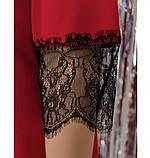 Платье женское А-силуэта, без карманов красное, фото 4