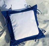 Подушка с фото синяя