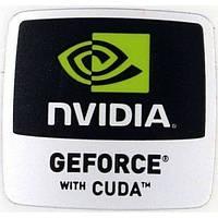 Наклейка nVIDIA GEFORCE with CUDA