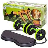 Тренажер для пресса рук ягодиц спины и всего тела c 6-ю уровнями тренировки Revoflex Xtreme зеленый
