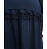 Повседневное женское платье темно-синее, фото 4