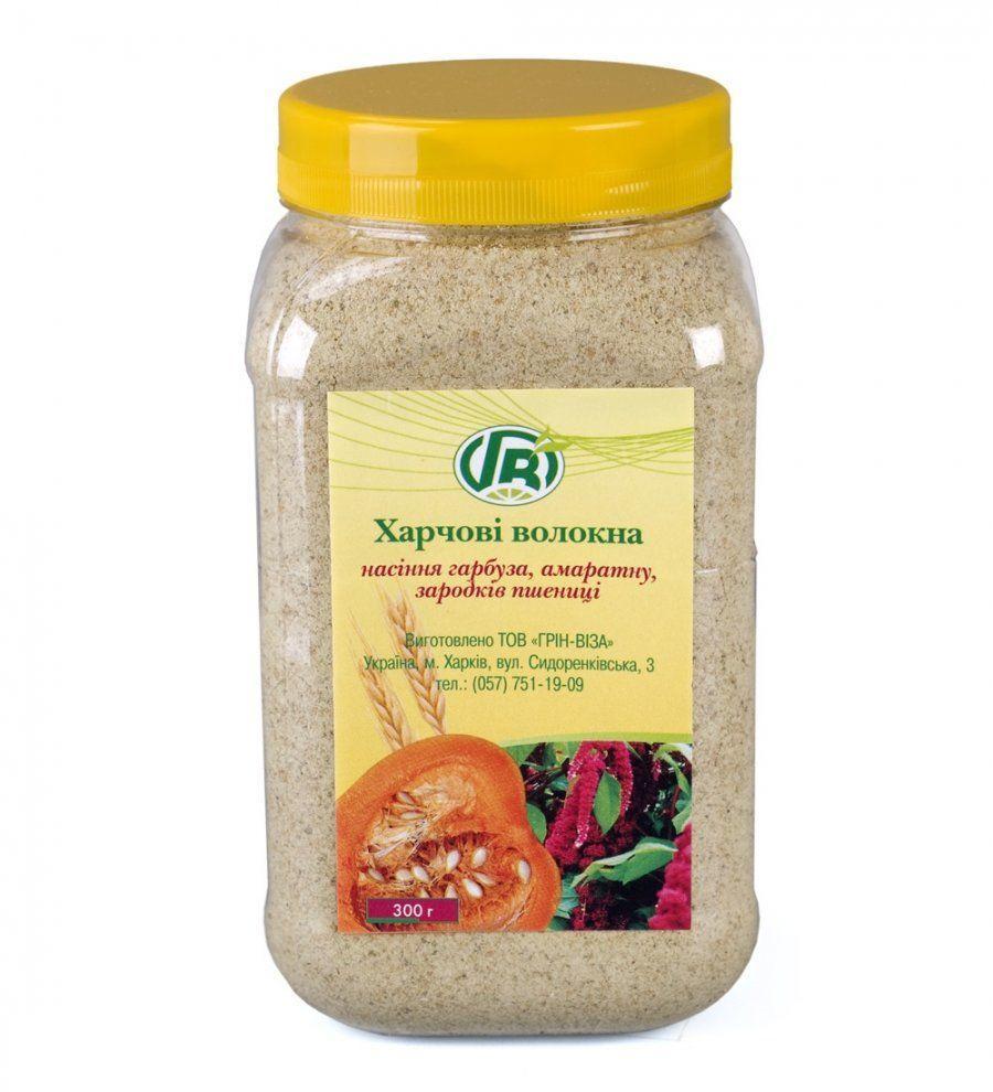 Пищевые волокна семян тыквы, амаранта, зародышей пшеницы, Грин Виза, 300 г
