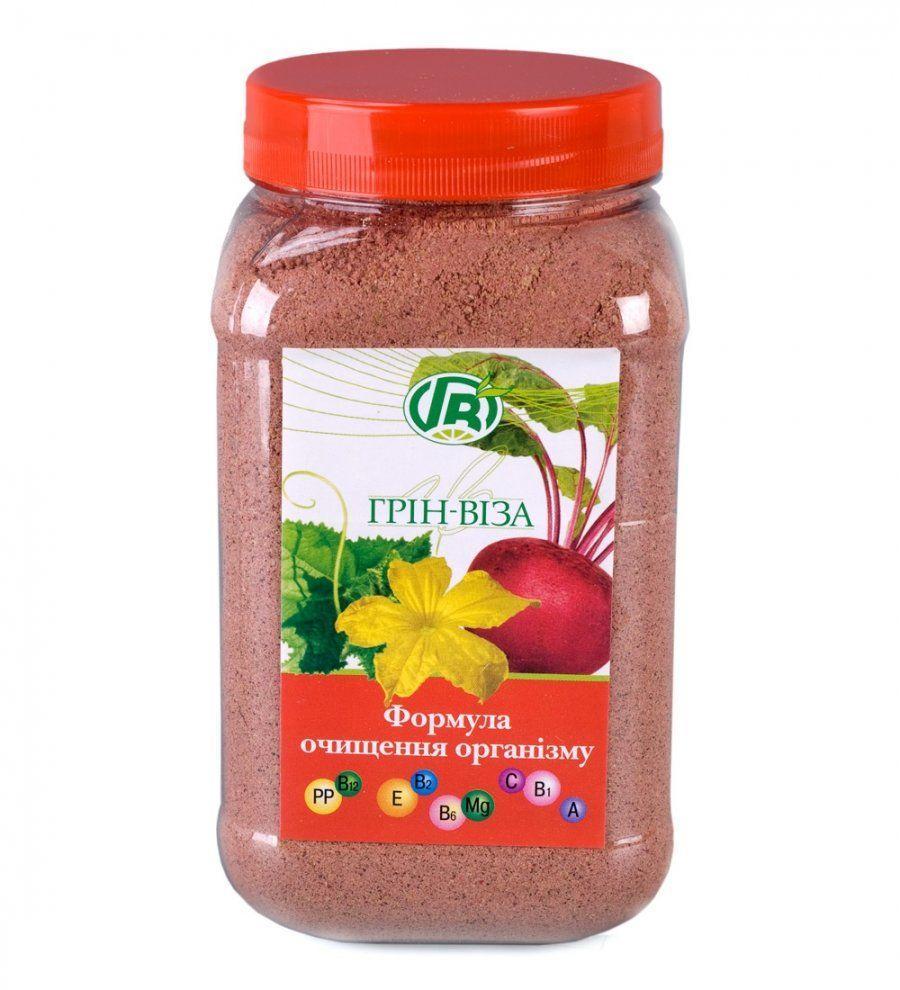 «Формула очищения организма» пищевые волокна семян тыквы со свеклой, Грин Виза, 300 г