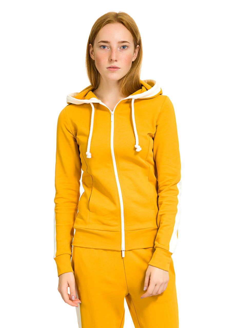 Кофта женская Sandi  горчичного цвета