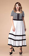 Сукня Romanovich-1-1818 білоруський трикотаж, чорно-білий, 50
