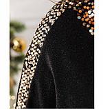 Платье женское большого размера черное, фото 4