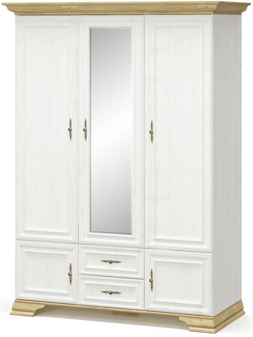 Шкаф 3Д МАКС Ирис Андерсон пайн + Дуб золотой Мебель Сервис (145.1х62.2х212 см)