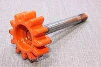 Вал ведущий (с шестерней)(D=15 мм, L=150 мм, срез) бетономешалки