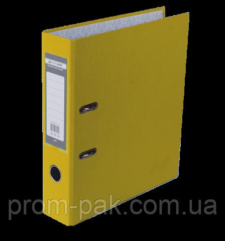 Реєстратор одност. JOBMAX А4, 70мм PP, жовтий, збірний